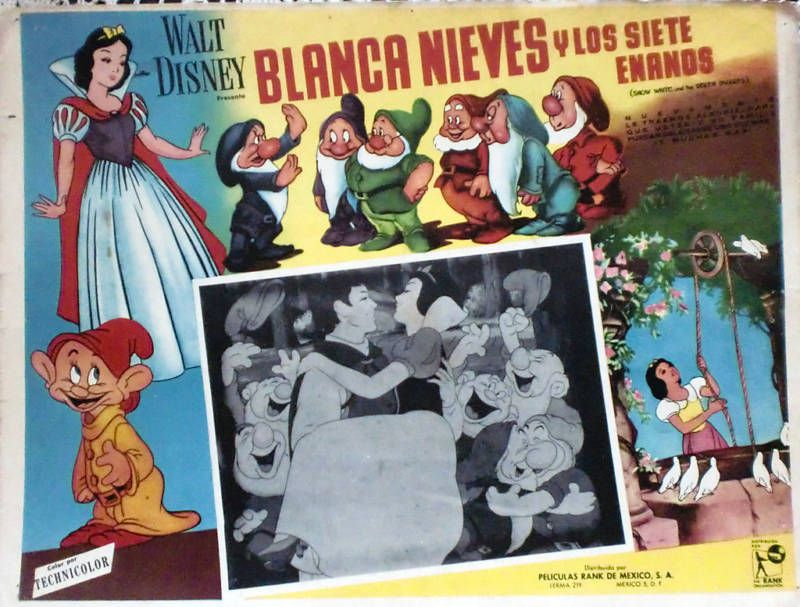 Snow White Lobby Card In Spanish Lobby Cards Vintage Mexican