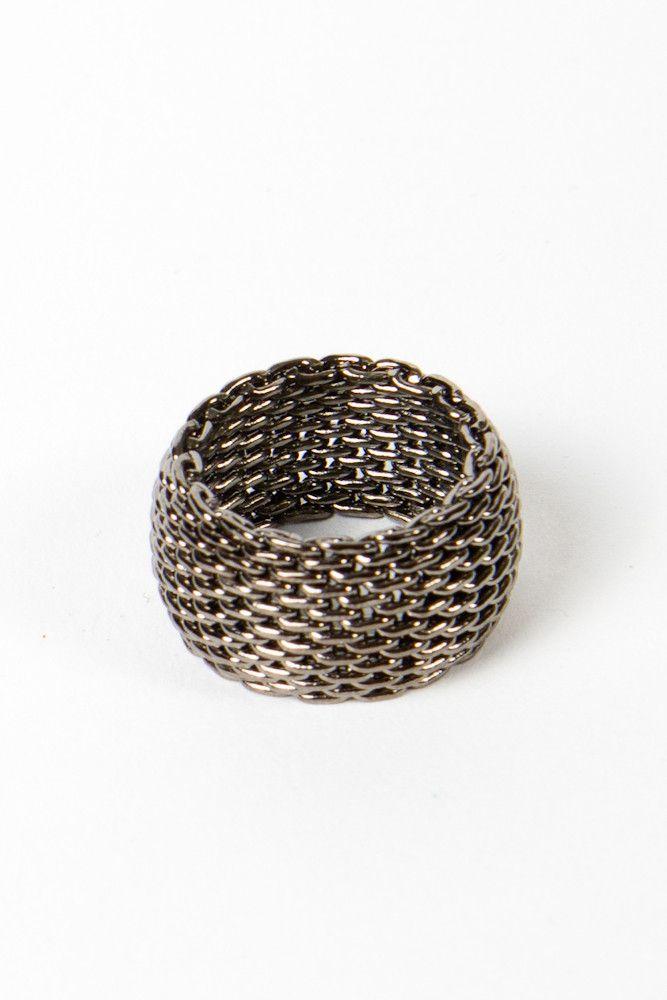 Mesh Gunmetal ring