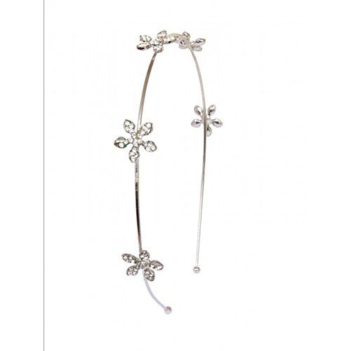 Studded White Flower Hair Band  CLICK TO BUY