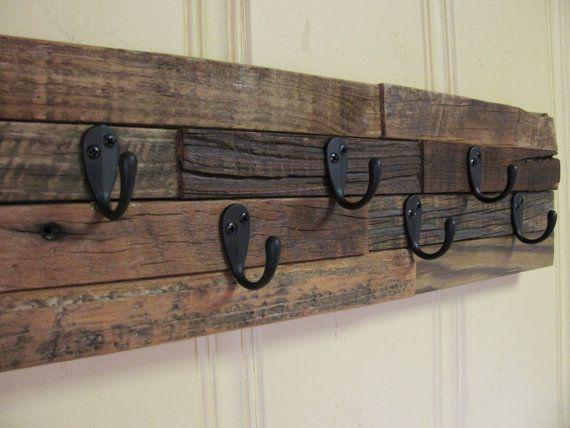 Rustic Key Holder Key Rack Hat Rack Rustic Keys Barn Wood Wooden Pallet Projects