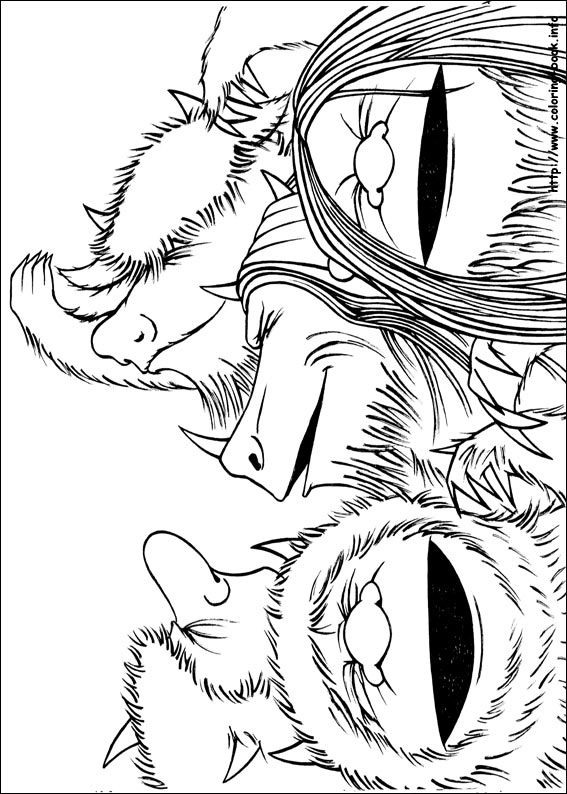 Where the wild things are beasts coloring page Coloring Pages