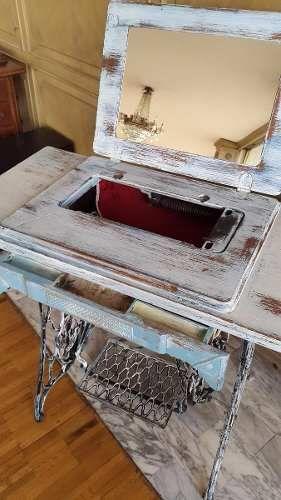 Mesa de maquina de coser antigua singer colecci n vintage dec pinterest old sewing - Mesa maquina coser singer ...