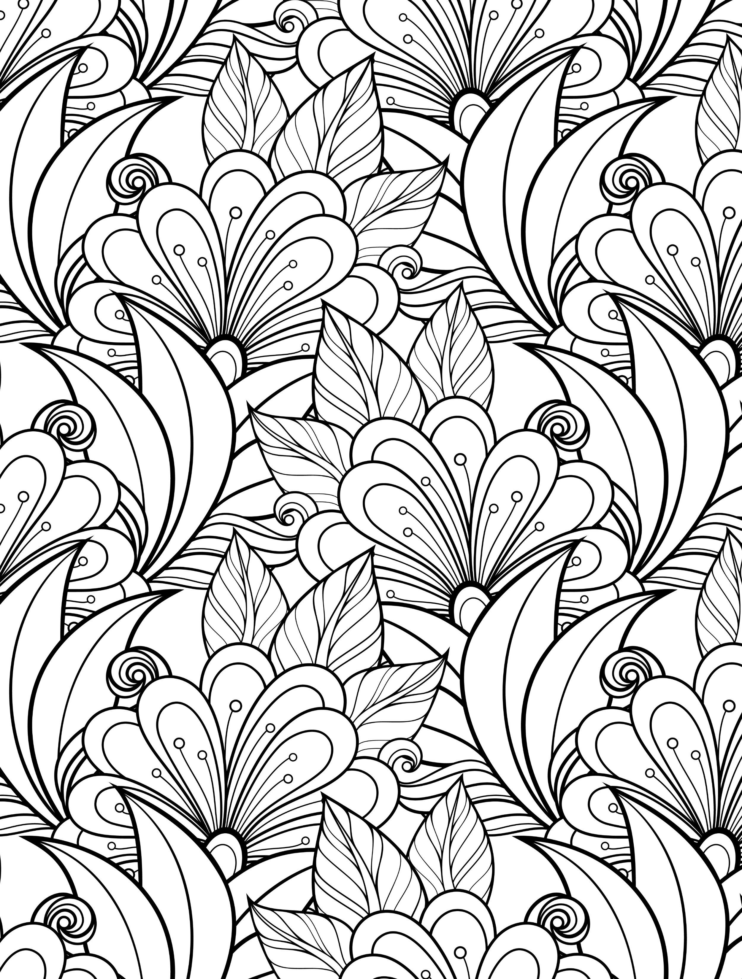 gorgeous free printable coloring book pages web | Arboles, hojas ...