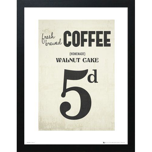 George Oliver Poster Coffee Walnut Cake | Wayfair.de #quotesaboutcoffee
