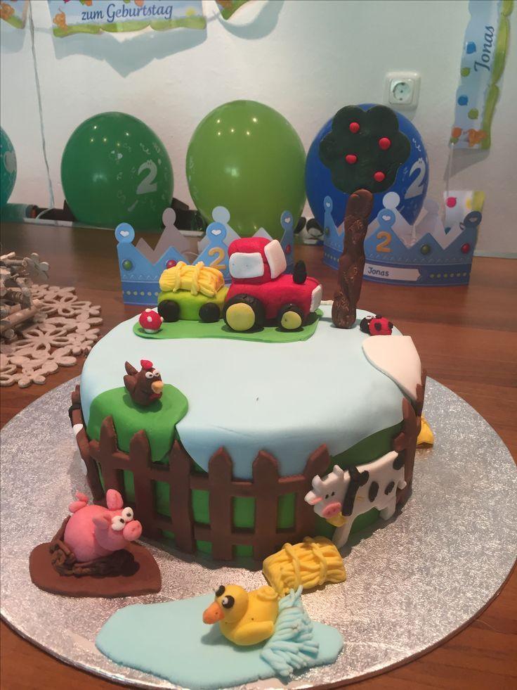 Traktor Bauernkuchen Tortendeko Farm Cake Tortendeko Trakt Szulinap Bauernkuchen Cake Farm Szulinap Tortende Cake Torte Birthday Cake
