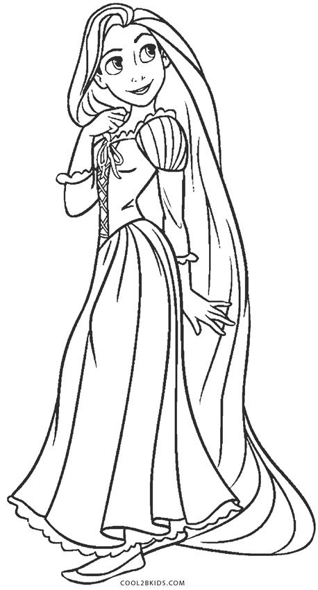 Free Printable Rapunzel Coloring Pages For Kids in 2020 ...