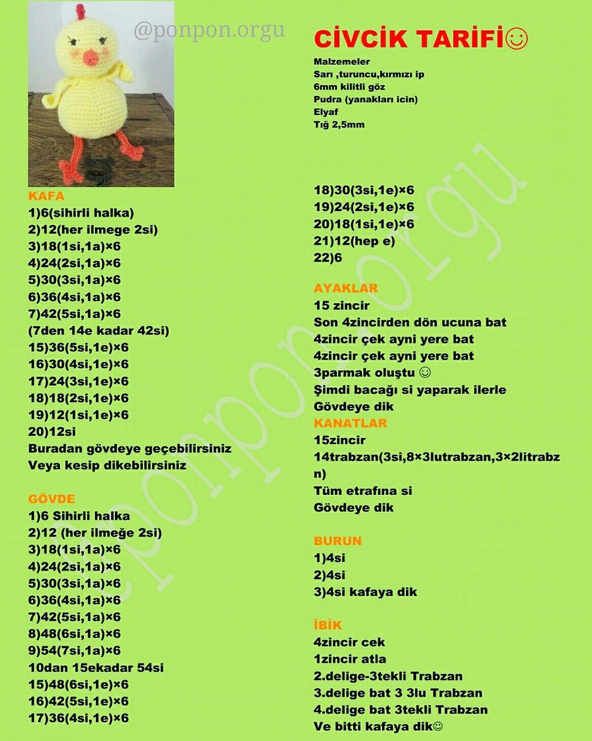 Amigurumi Burun (8-10-12 Mm) (75 Tl Üzeri Ücretsiz Kargo) - n11.com   1457x1165