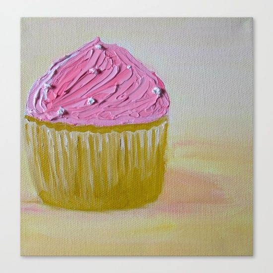 Pink+Cupcake+Canvas+Print+by+My+Sweetest+Little+Cupcake+-+$85.00 ...