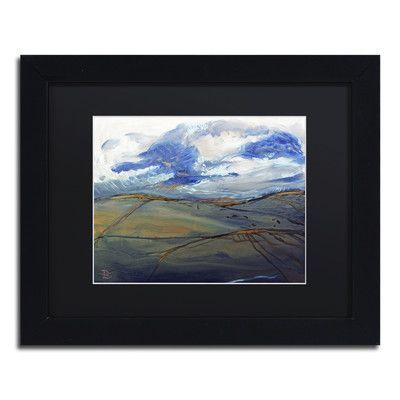"Trademark Art ""Loch Lomond Moors"" by Lowell S.V. Devin Framed Painting Print Size: 11"" H x 14"" W x 0.5"" D"