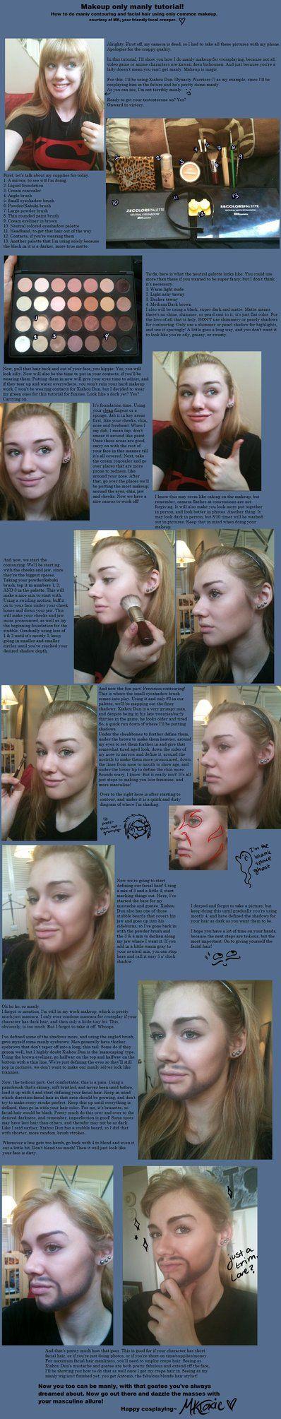 Manly Makeup tutorial by ~MKToxic on deviantART