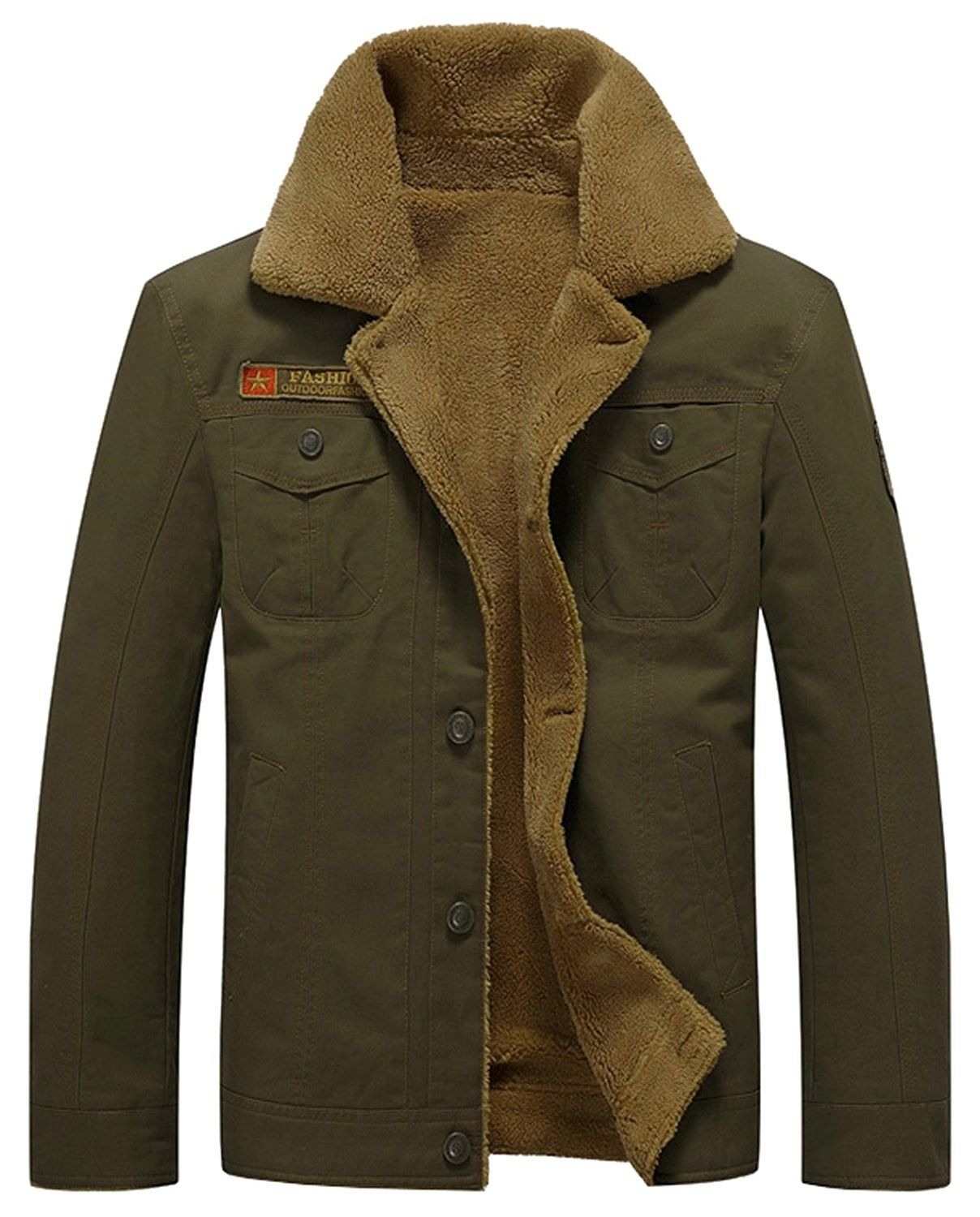 Cotton Military Outwear Quilted Army Green CY18659CE59