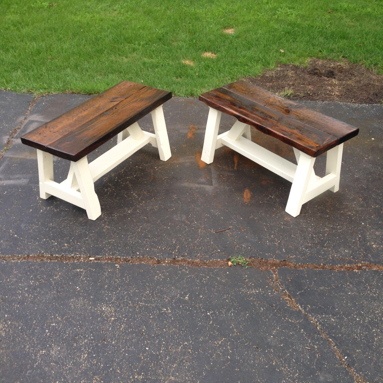 Custom Made Farm Style Bench