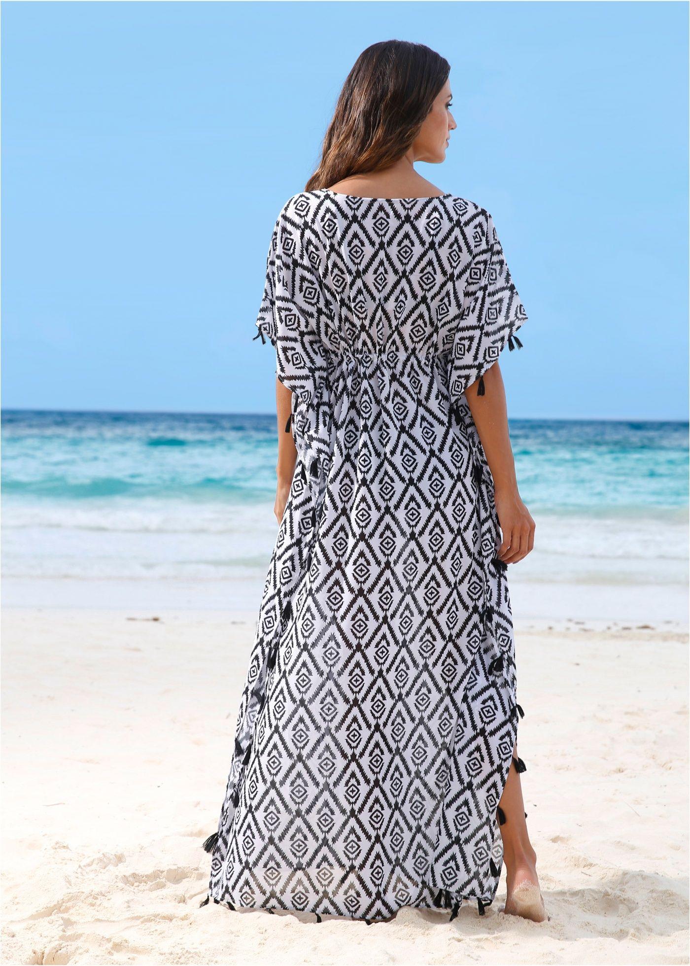 c83242ac024e Strandklänning svart/vit, mönstrad - bpc selection beställa online -  bonprix.se