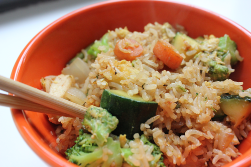 Fried rice similar to the kind I made