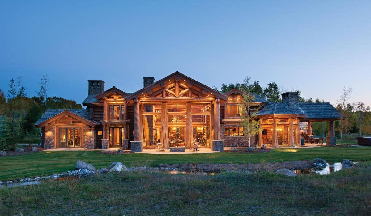Log home builders nova scotia - Hybrid Log Timber Tamarack Residence Log Homes And Interiors Pinterest Logs Mountain Style And Mountain Houses