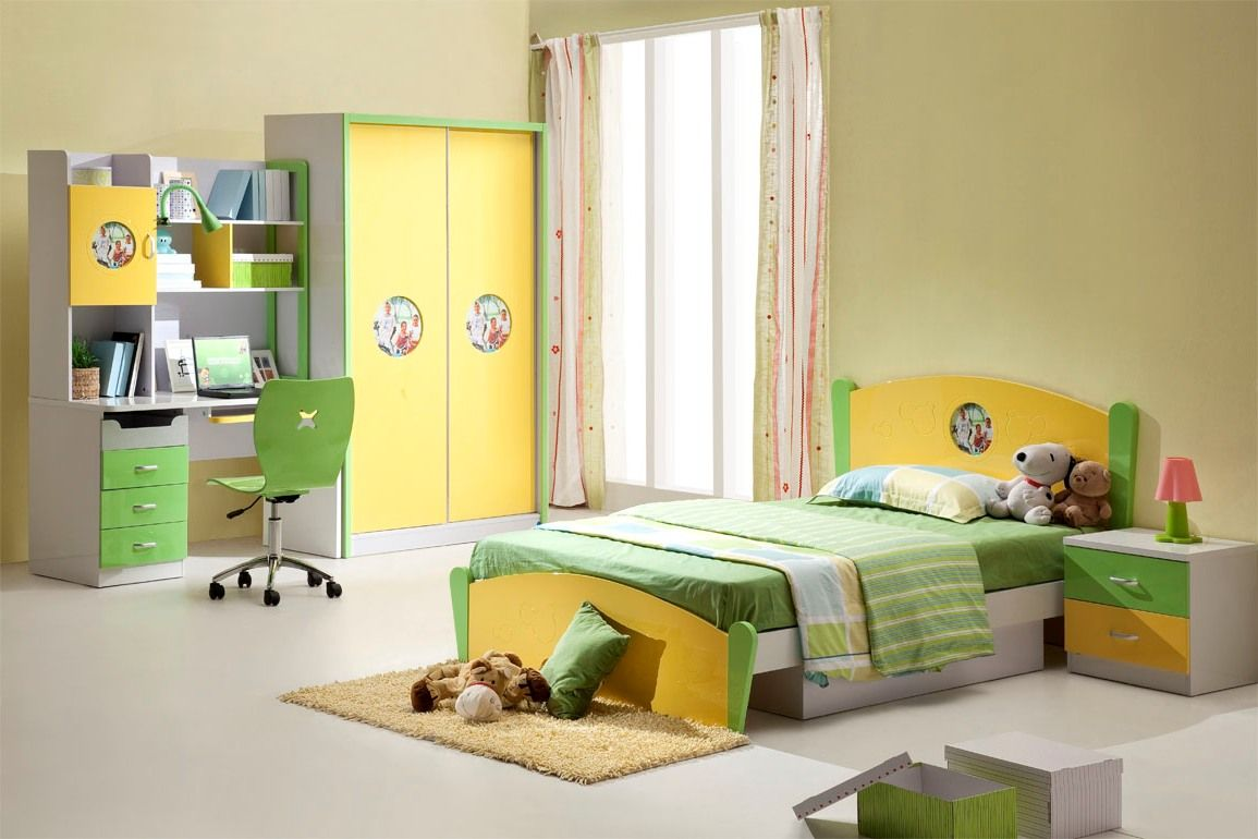 Bed with a desk wardrobe versatile children go bed under table - Kids Room Children Bedroom Ideas With Single Bed Ideas With Small Brown Rugs With Yellow