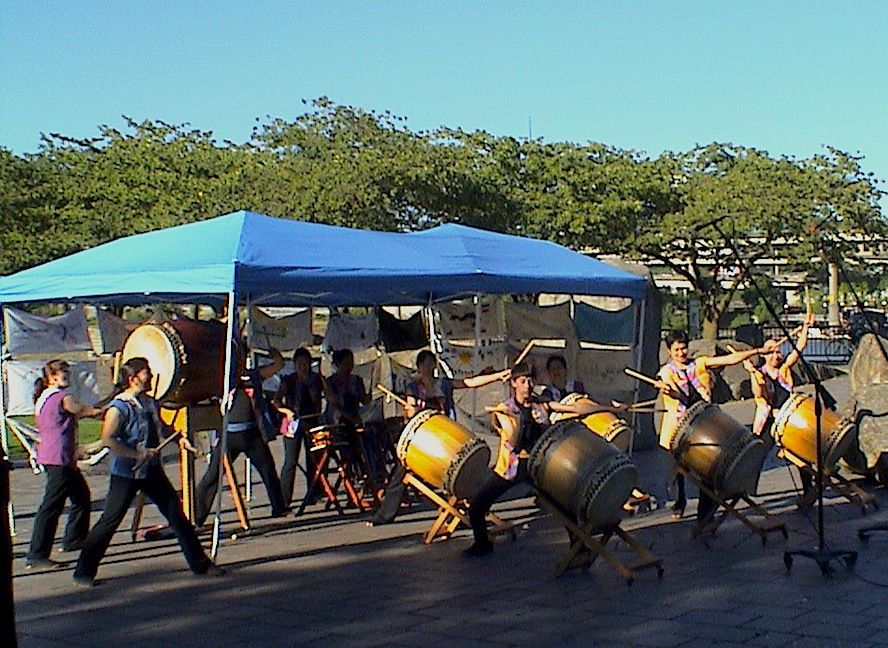 Click image for more information on Portland Taiko Drummers. Photo by © Michaël Van Broekhoven, 2013