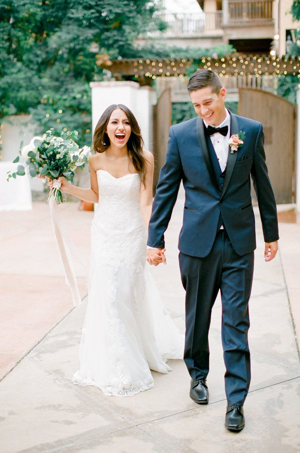 Happy Couple This Bride Is Wearing Laverna By Maggie Sottero 3 Wedding Dresses Simple Simple Wedding Gowns Wedding Photo Inspiration