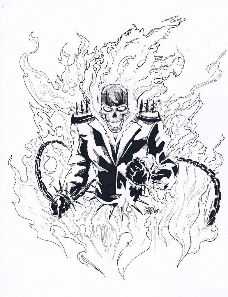 Ghost Rider Ink By Greyham Cracker On Deviantart Ghost Rider Ghost Rider Pictures Rider