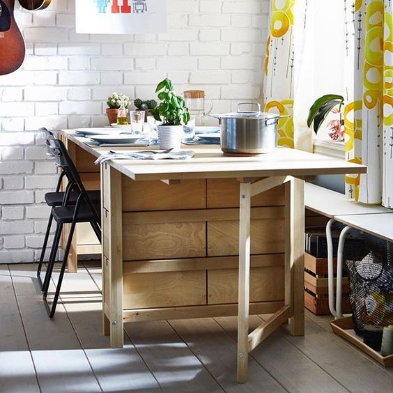 Norden Gateleg Table By Ikea Is A With Drop Leaves Seats 2 4