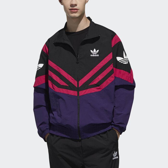 Adidas Hooded Men/'s Windbreaker Jacket M Colorblock S XXL XL L Black White