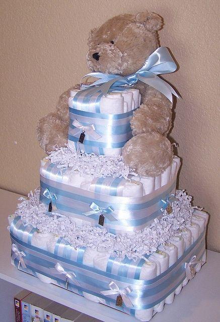 It S A Boy Square Diaper Cake Baby Diaper Cake Boy Baby Diaper