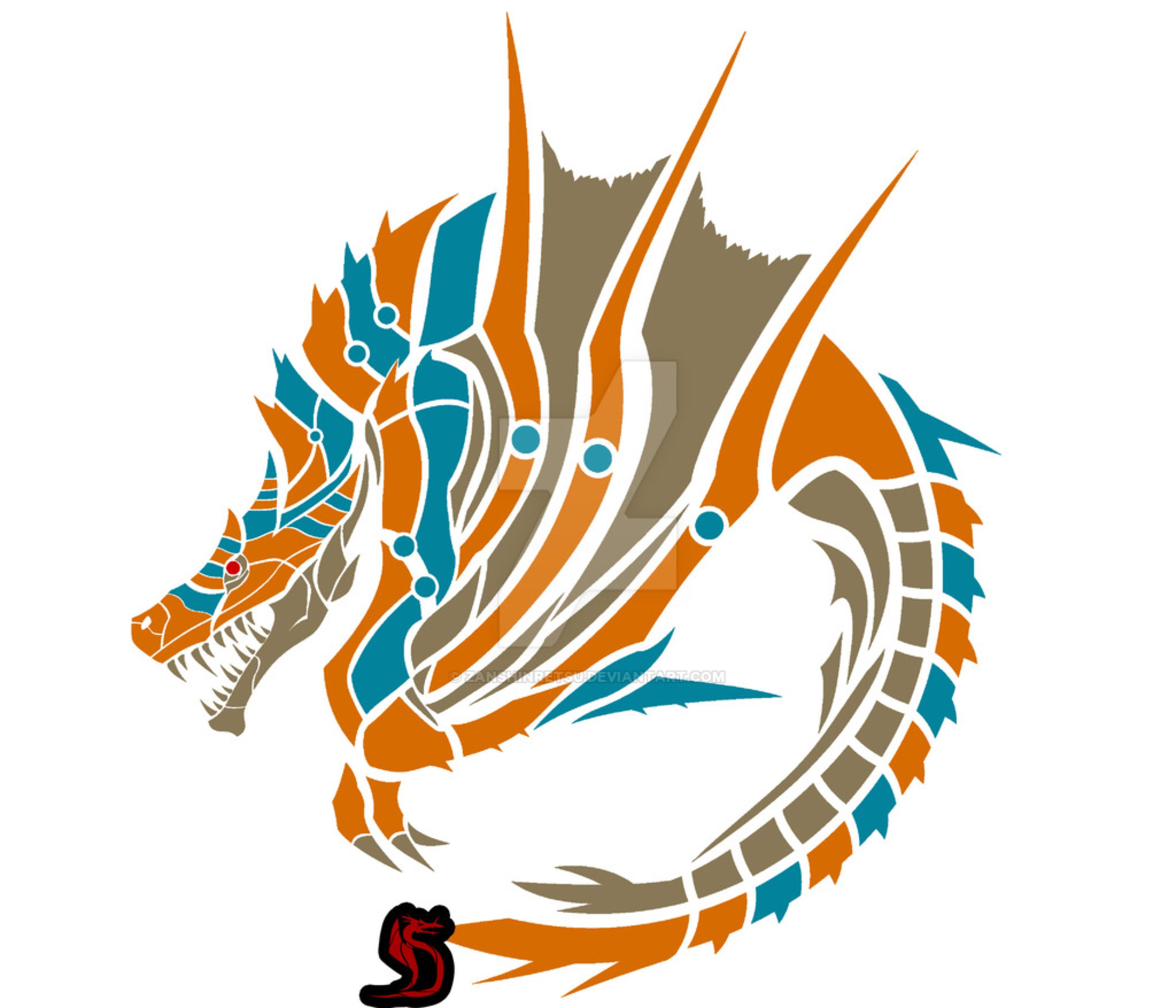 Tigrex Circular Emblem By Zanshinretsu On @DeviantArt
