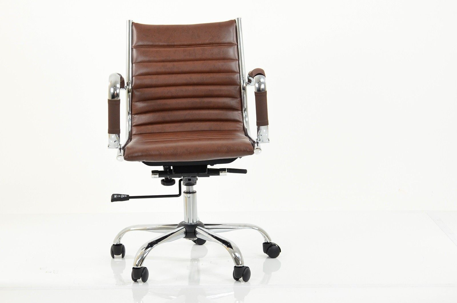 Jenson Faux Leather Office Chair Vintage Brown Office Chair Stylish Chairs Stylish Office Chairs