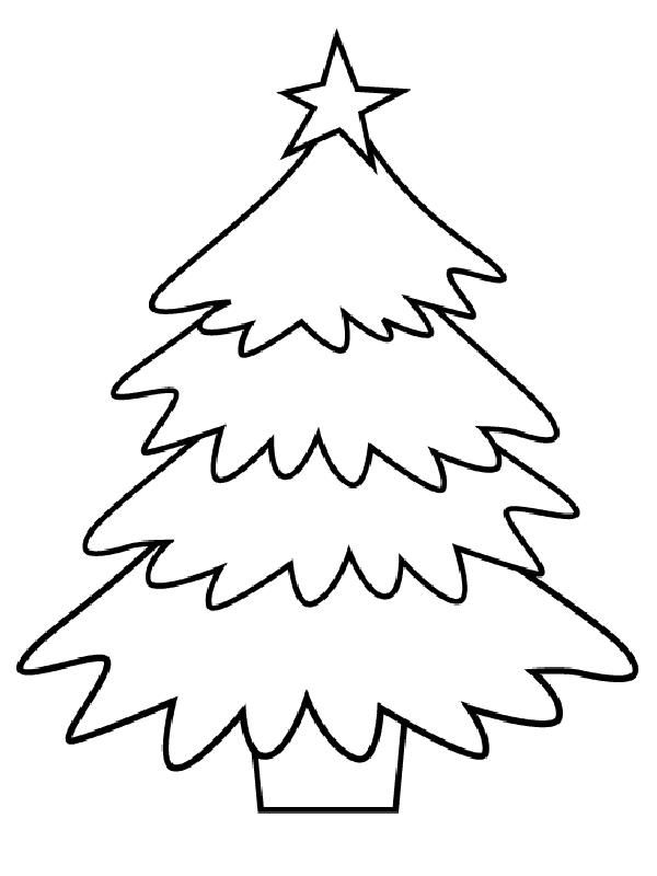 Disegno di natale albero