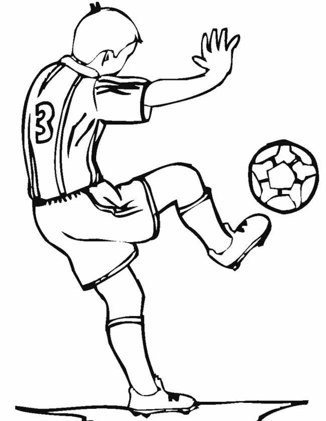 voetballer inkleuren zoeken voetballers