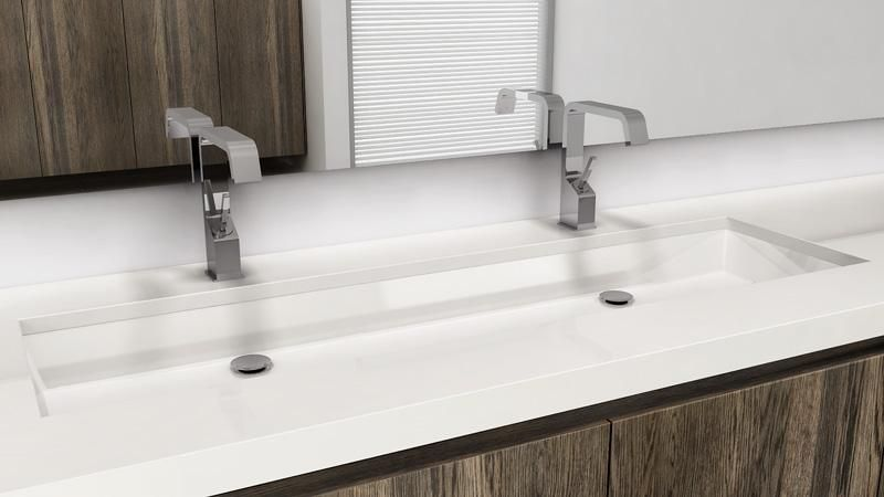 Vc848u 48 Undermount Bathroom Double Trough Sink The Cube Collection Wetstyle