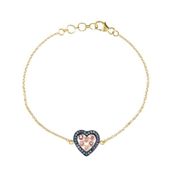 Latelita London Diamond Heart Bracelet fjq6n4PZ0