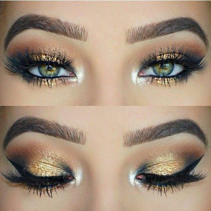 como pintarse los ojos mujer con ojos verdes - Pintarse Los Ojos