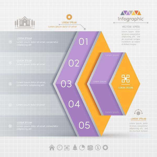 Eps File Entreprise Infographique Banniere Vecteur Modele 13