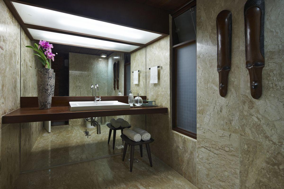 Exterior marvelous bathroom design near clear vanity along with