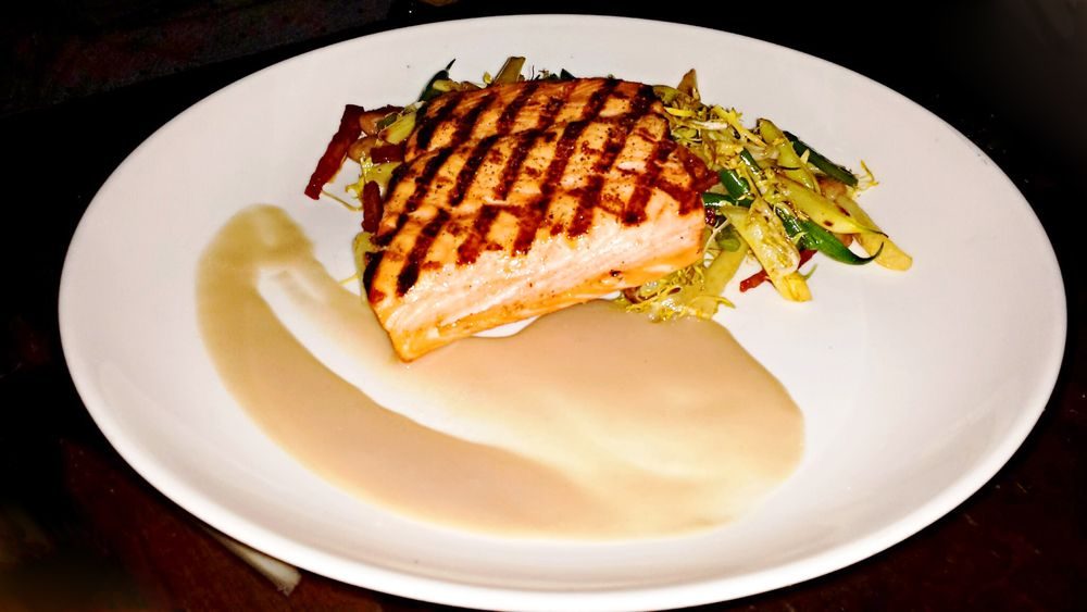 """""""Grilled Organic Salmon"""" at Fulton 