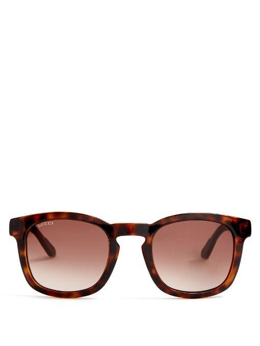 b53c369828e3a GUCCI Tortoiseshell round-frame sunglasses.  gucci  sunglasses ...