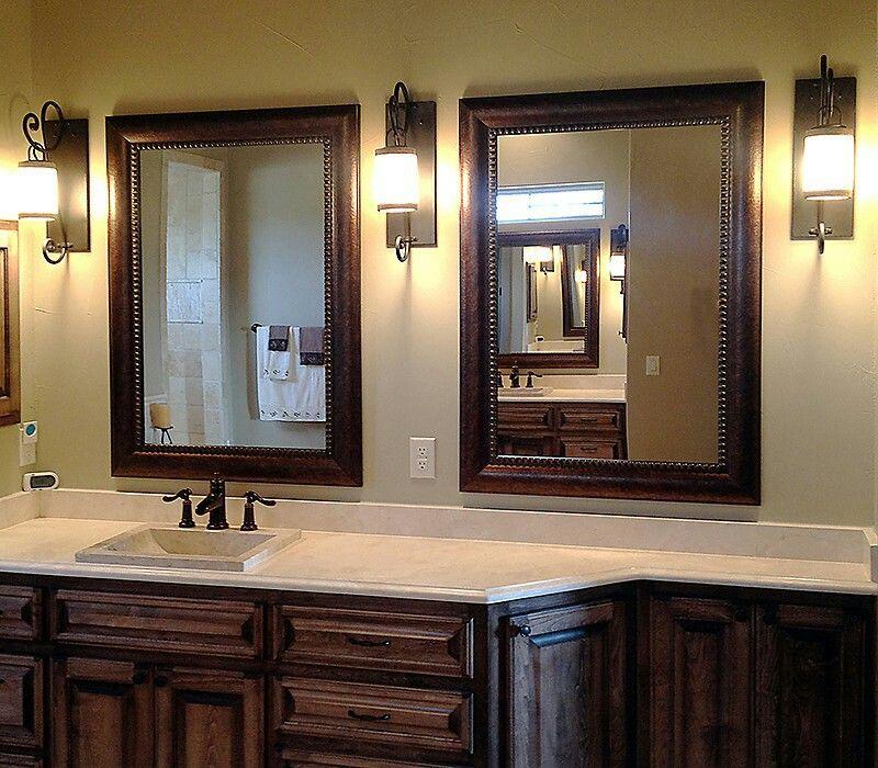 Two Mirrors One Sink Bathroom Mirror Bathroom Mirror Frame Bathroom Inspiration Decor
