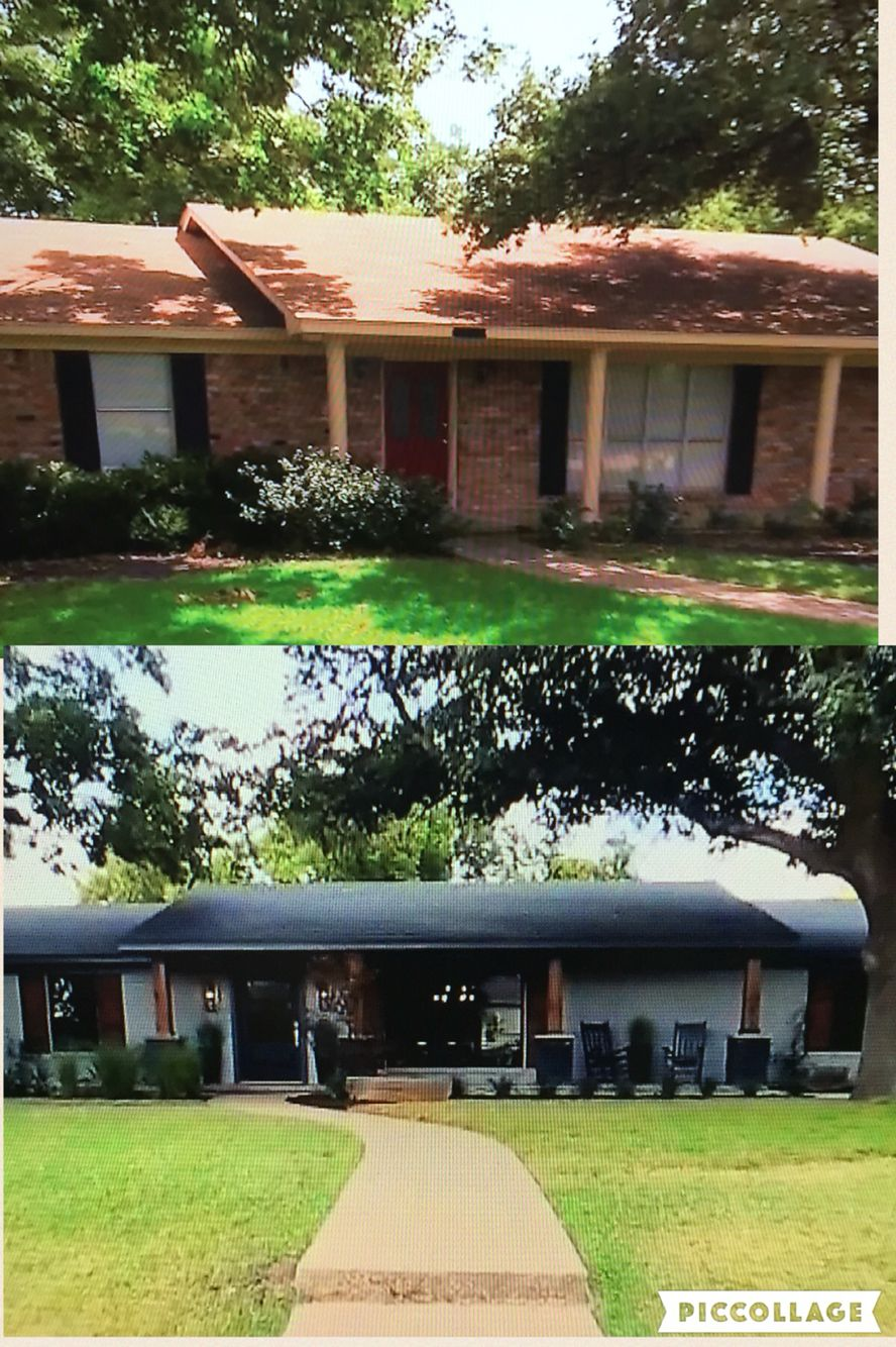 Exterior Remodel: Before And After Painted Brick