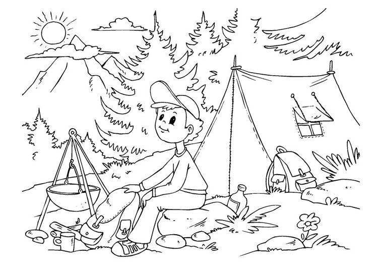 Pagina Para Colorir Acampar Com Imagens Colorir Desenhos Para