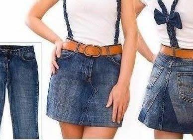 Como hacer una falda con un pantalón vaquero