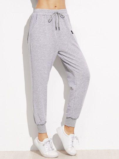 Pantalones con cordón en la cintura - negro  bd2f8296da74