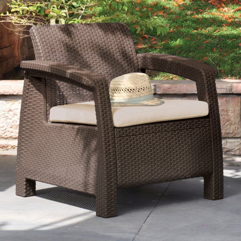 Perfect Keter Corfu Outdoor Armchair   Brown   214769