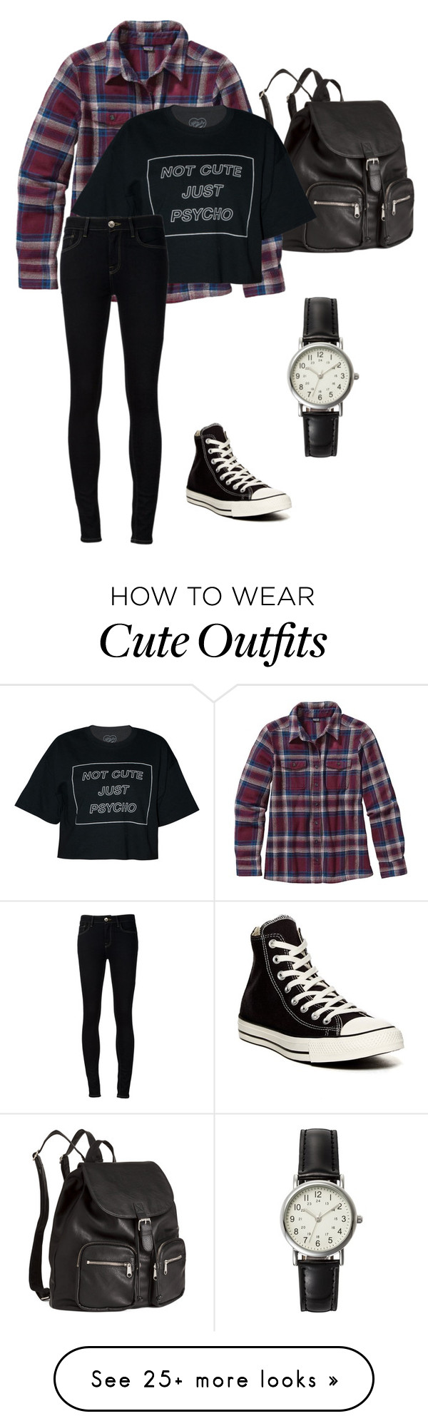 """Stiles stilinski inspired outfit"" by lexi-tolhurst on Polyvore featuring H&M, Patagonia, Ström, Converse and FOSSIL"