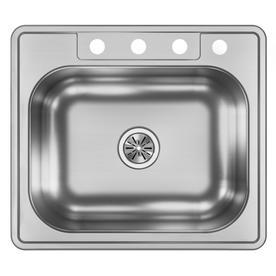 Dayton 25 In X 22 In Stainless Steel Single Basin Drop In 4 Hole