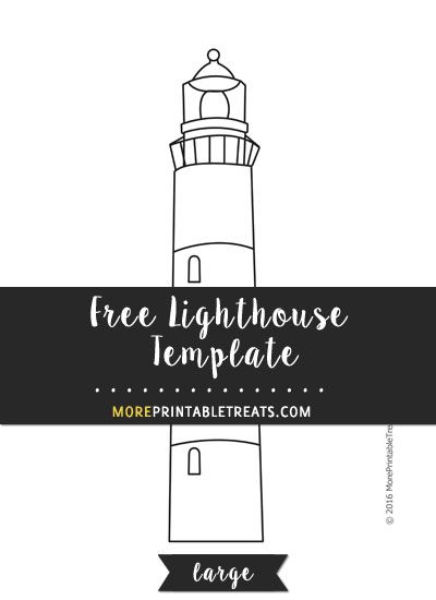 Free Lighthouse Template - Large | Shapes and Templates Printables ...