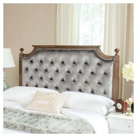Rustic Tufted Linen Headboard - Safavieh®   Velvet ...