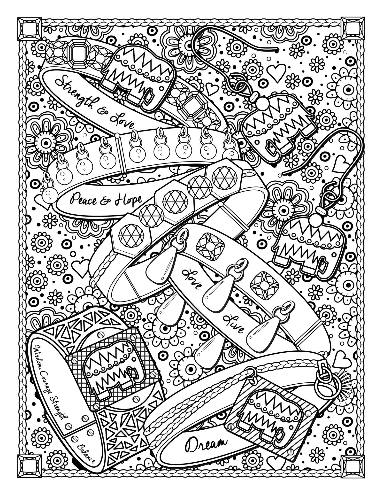 Book Jewelry Jewels Fashion Clothing And Jewelry Coloring Pages