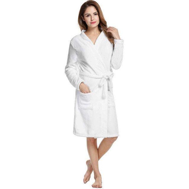 58ceda1ec2 Winter Bath Sleepwear Women Coral Velvet Bathrobes Kimono Dressing  Nightgown For Ladies Homewear Plus Size
