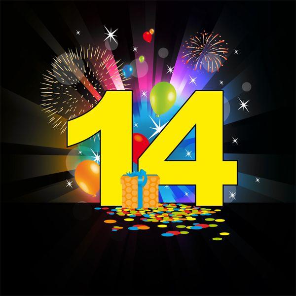 Ongebruikt Ik ben 20 oktober 14 jaar. Geworden.   Verjaardagswensen VJ-75